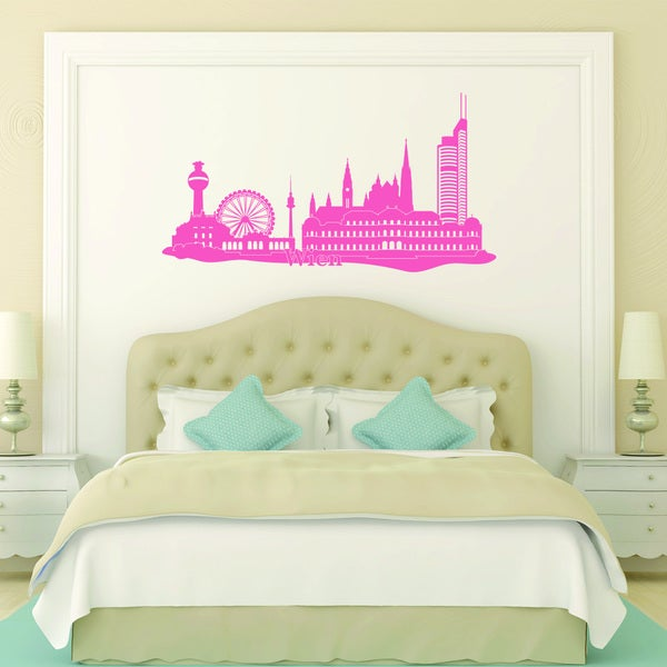 Style and Apply Vienna City Skyline Vinyl Wall Decal
