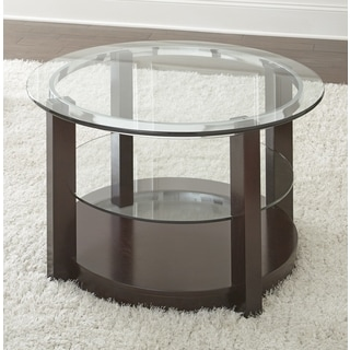 Greyson Living Crawley Tall Round Coffee Table with Glass Top