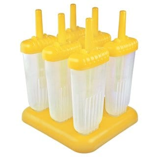 Tovolo Yellow Plastic Groovy Ice Pop Molds (Set of 6)