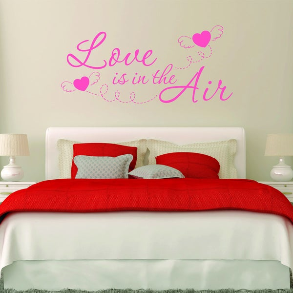 'Love is in the Air' Vinyl Wall Decal