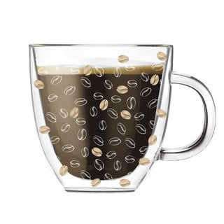 Glass 12-ounce Double-walled Coffee Cup