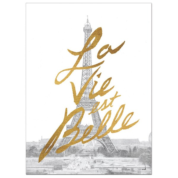 Gilded Paris Foil Canvas Art