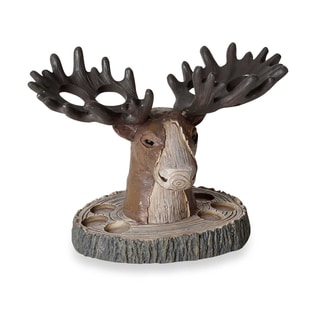 Pine Lodge Hand-crafted Moose Head Tooth Brush Holder