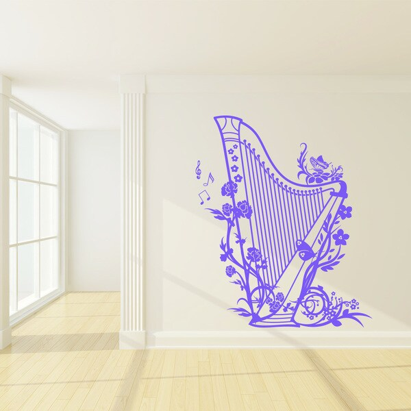 Harp Vinyl Wall Decal