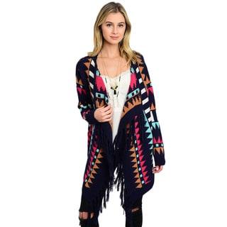 Shop The Trends Women's Multicolor Acrylic Long Sleeve Cardigan