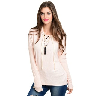 Shop The Trends Women's Long-sleeve Hooded Knit Sweater