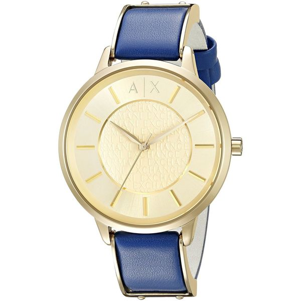 Armani Exchange Women's AX5312 'Olivia' Blue Leather Watch