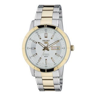 Seiko Men's SNKN58K1 5 White Watch