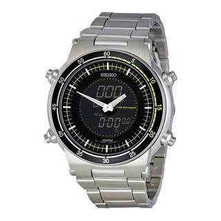 Seiko Men's SNJ023P1 Retro Black Watch