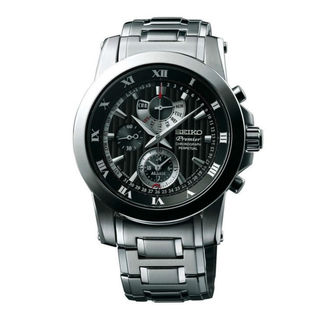 Seiko Men's SPC161P1 Premier Black Watch