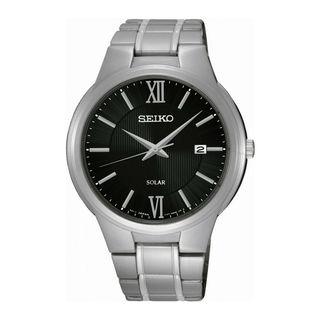 Seiko Men's SNE387P1 Solar Black Watch