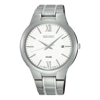 Seiko Men's SNE385P1 Solar White Watch