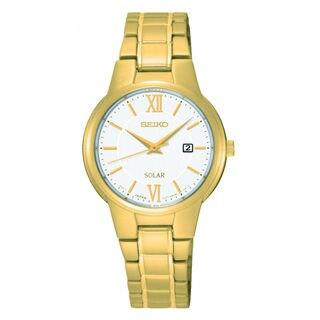 Seiko Women's SUT232P1 Solar White Watch