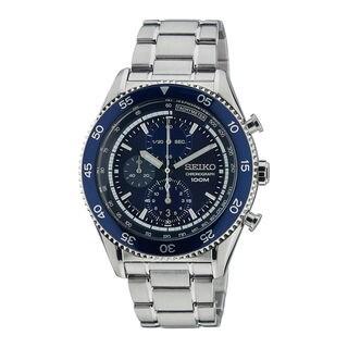 Seiko Men's SNDG55P1 Chronograph Blue Watch