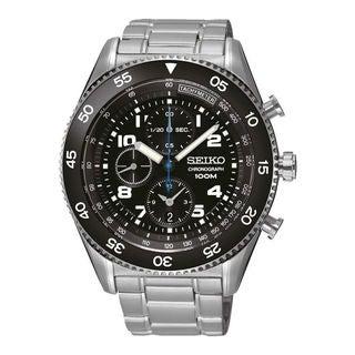 Seiko Men's SNDG57P1 Chronograph Black Watch