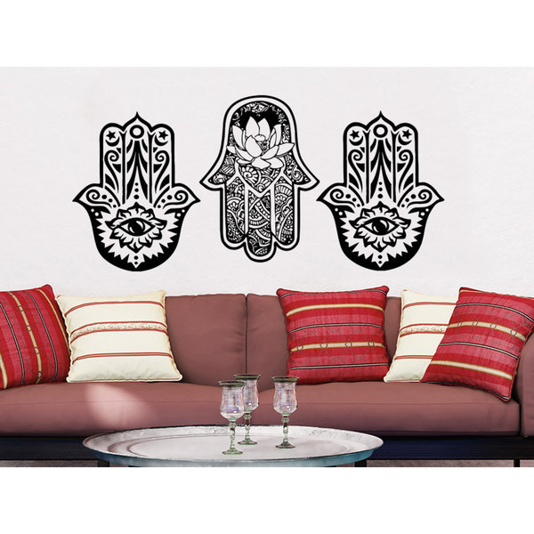 Yoga Studio Stickers Bedroom Hamsa Wall Art Sticker Decal