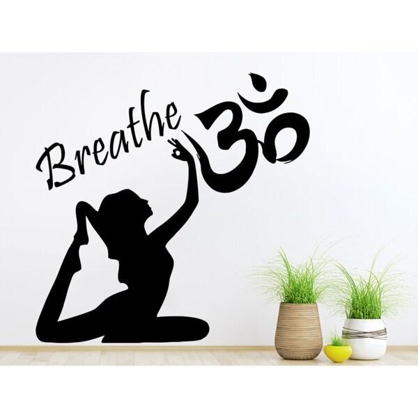 Breathe Ritmica Namaste Yoga Eye Wall Art Sticker Decal 19090190