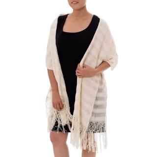 Handcrafted Cotton 'Oaxaca Harmony' Rebozo Shawl (Mexico)