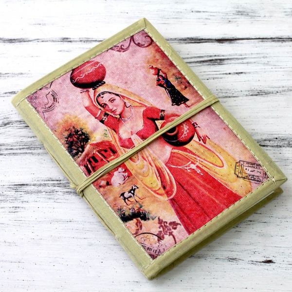 Handmade Paper 'Postcard from Rajasthan' Journal (India)