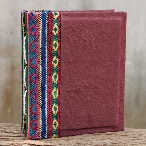 Handcrafted Saa Paper 'Red Dragon' Photo Album (Thailand)