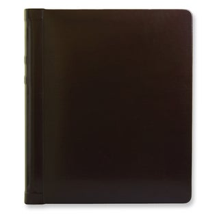 Versil Burgundy Leather 8-inch x 10-inch 20-photo Wedding Photo Album