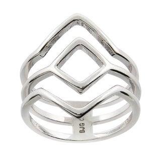 Eternally Haute High Polished Geometric Ring