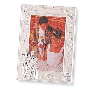 Versil Silver-plated 4-inch x 6-inch Wedding Photo Frame