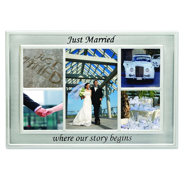 Versil 'Just Married' 5-photo Metal Collage Frame