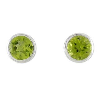 Handcrafted Sterling Silver 'Spark of Life' Peridot Earrings (India)