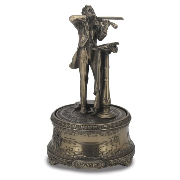 Versil Niccolo Paganini Silver Bronze Resin Music Box