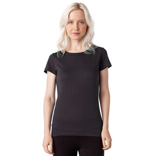 AtoZ 100-percent Cotton Short-sleeve Crew-neck Top
