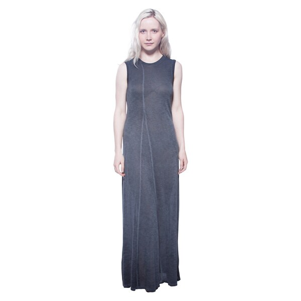 AtoZ Women's Black Viscose Twisted Maxi Dress