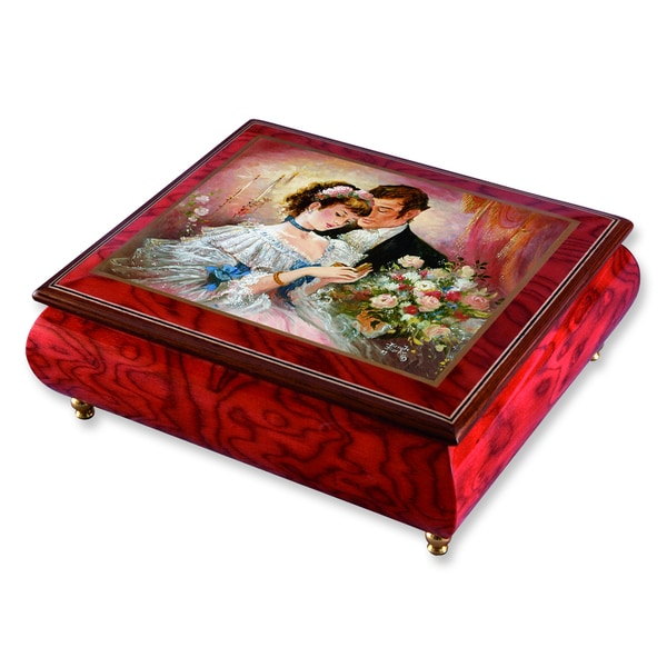 Versil Brenda Burke 'A Token of Love' Red Wood Music Box