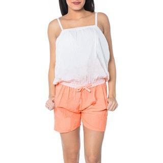 La Leela Beach Rayon Women Plus Jumpsuit Tie Dye Stretchable Playsuit Pink L/XL