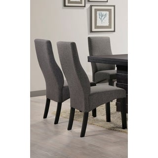 K & B Furniture PC55-G Grey Fabric/Polyester Set of 2 Parsons Chairs