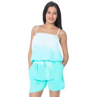 La Leela Rayon Tie Dye Stretchable Women Plus Jumpsuit Romper Playsuit Beach S/M