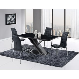 Global Furniture Black Stainless Steel Dining Table