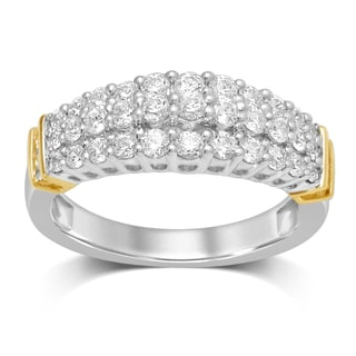 Unending Love 10k Two-tone Gold 1ct TDW Diamond Fashion Band (IJ I2-I3)