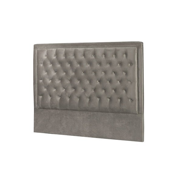 Niobe Grey Satin Velvet Bed