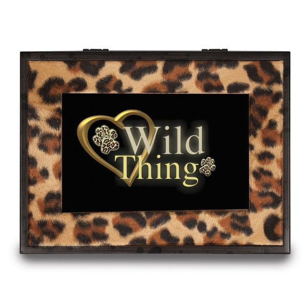 Versil Wild Thing Animal Print Music Box