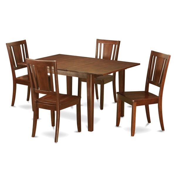 Psdu5 mah 5 piece small dinette set 18852000 overstock for Hgg 5pc drop leaf kitchen dining table set