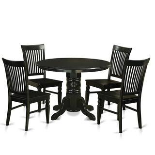 SHWE5-W Rubberwood 5-piece Small Kitchen Table Set
