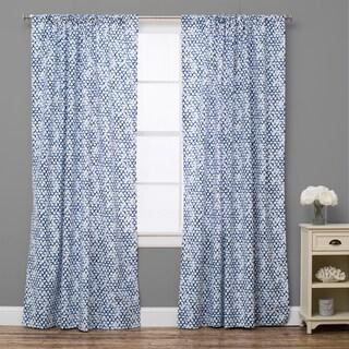 Pebble Breezy Lapis Curtain Panel