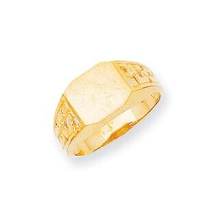 Versil Men's 14-karat Yellow Gold High-polished Signet Ring