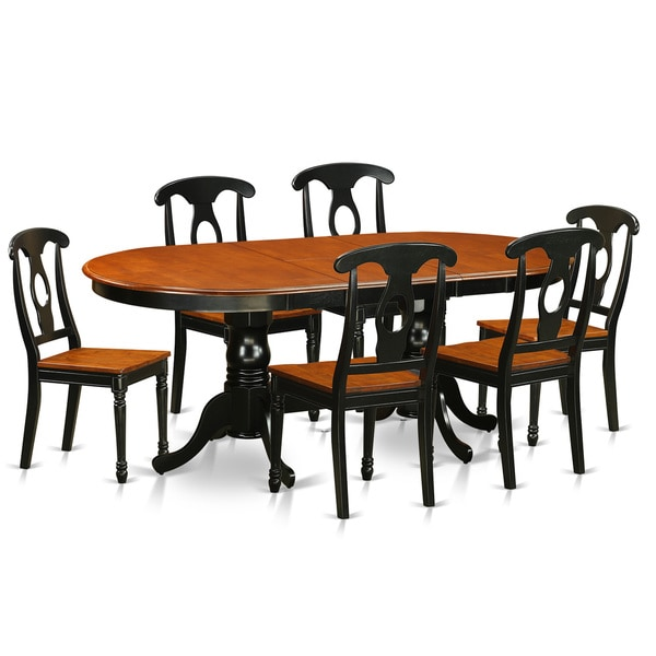 plke7 bch rubberwood dining table with 6 chairs 19093099 east west