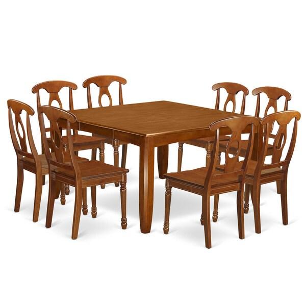 PFNA9-SBR Bronze/Copper Rubberwood 9-piece Dining Room Set