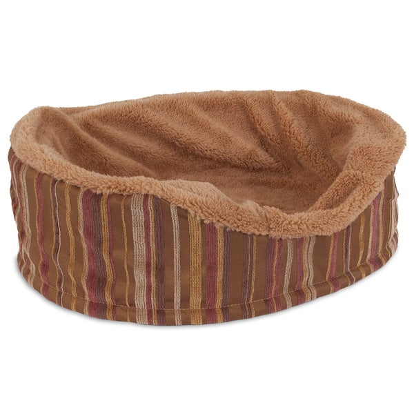 Aspen Pet Antimicrobial Foam Oval Lounger Dog Bed