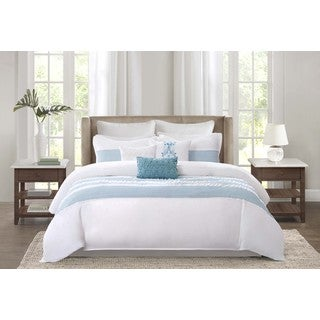 Echo Design Crete Teal Cotton 4-piece Comforter Set