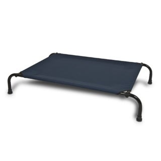 Aspen Pet Blue Polyester Elevated Dog Bed