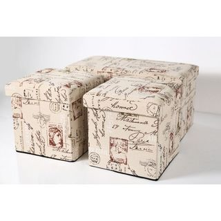 Folding Storage Bench and Folding Storage Ottoman